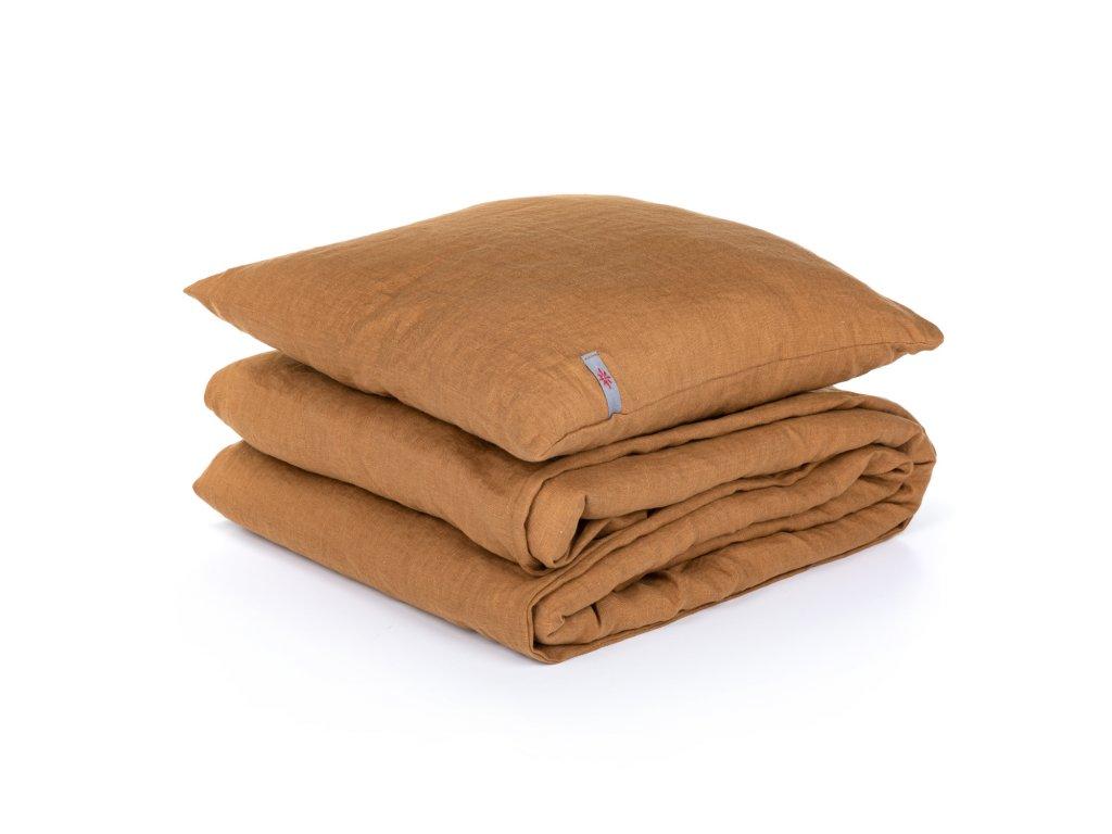 Detské ľanové obliečky Cinnamon 90x135, 40x60