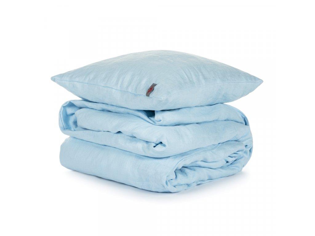 Detské ľanové obliečky Light blue 90x135, 40x60