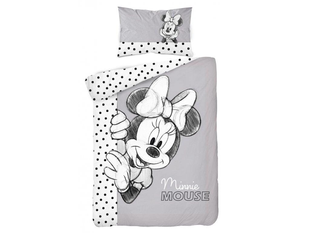 Bavlnené obliečky Minnie Mouse PP-171, 100x135, 40x60 cm