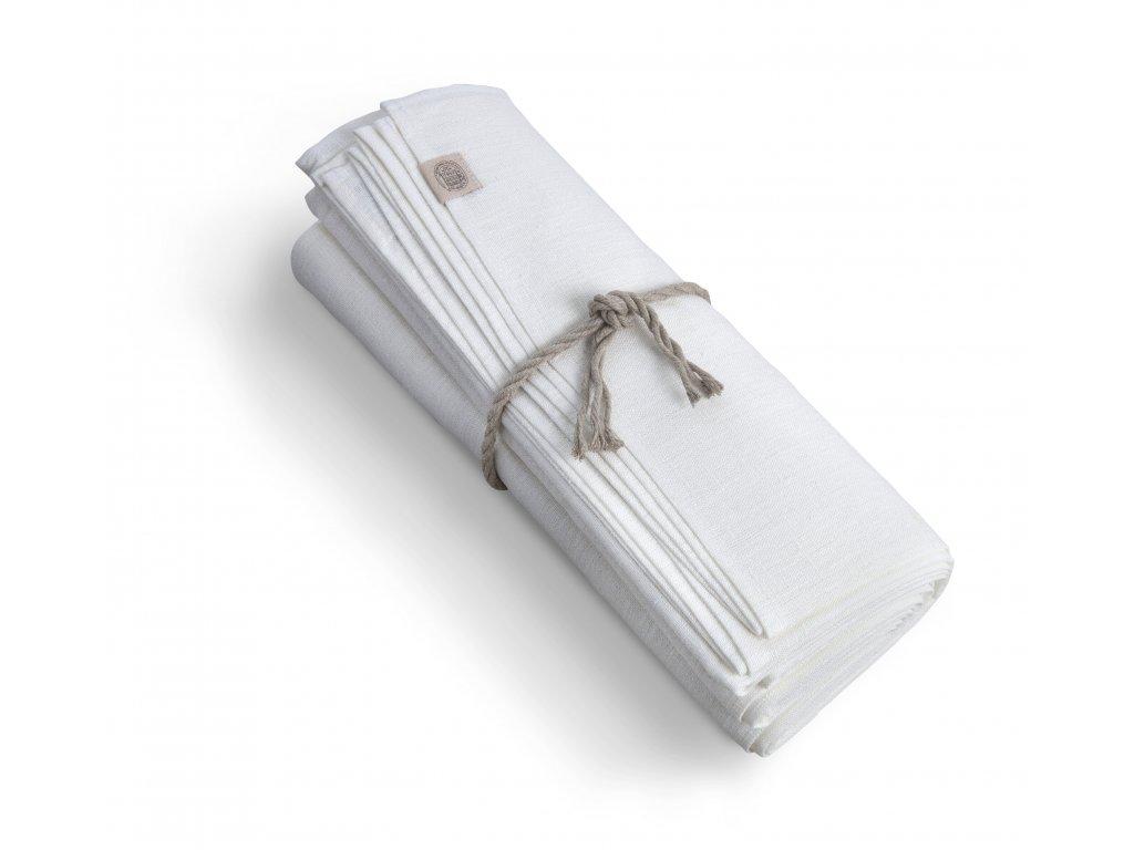 Ľanový obrus 100x100 OFF-WHITE