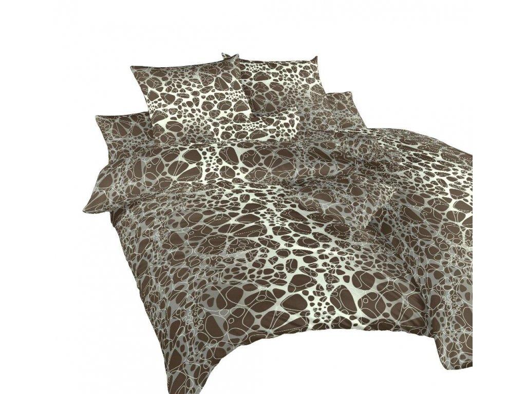 Obliečky bavlna Káva hnedá 140x200, 70x90 cm