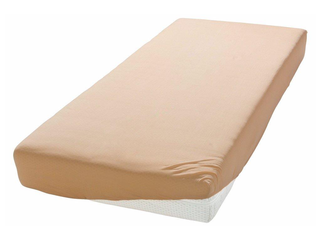 Plachta Jersey pastelovo oranžová 160/180 x 200