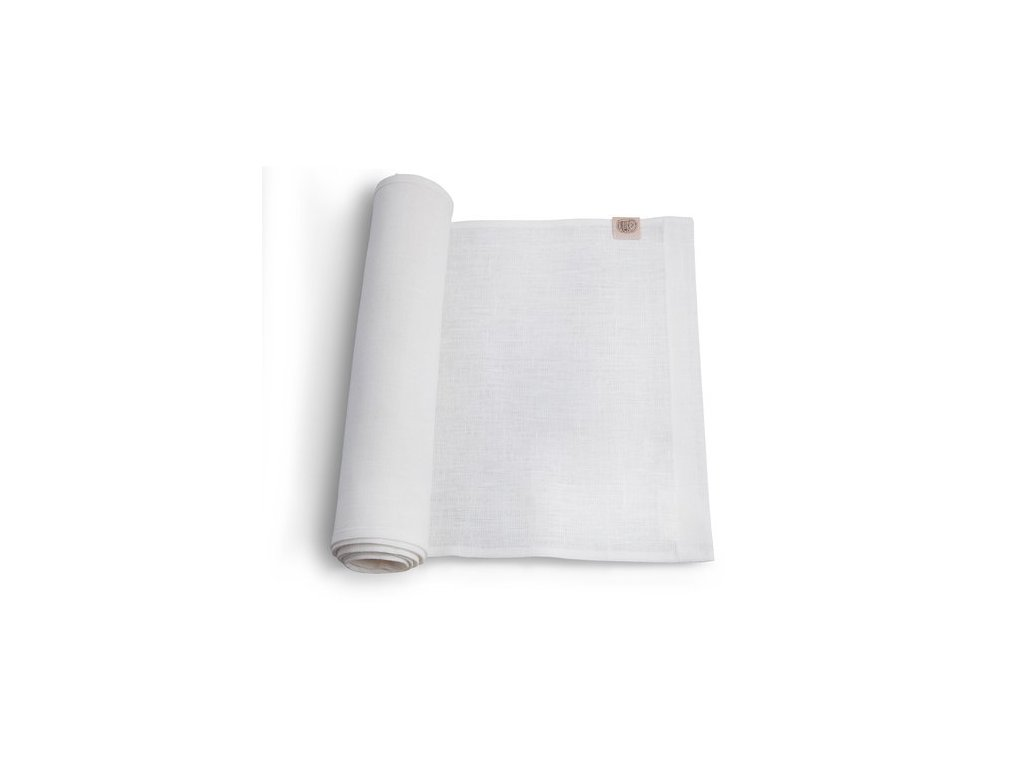 Lovely Linen stolný bežec 47x150 WHITE SINGLE