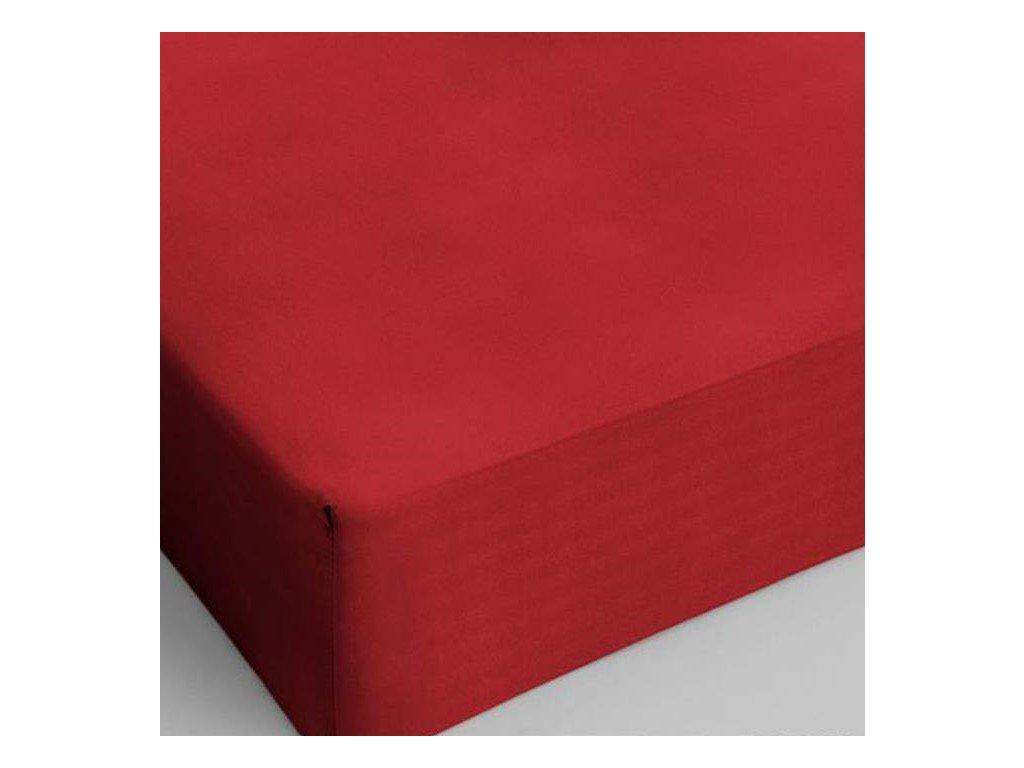 Bavlnené prestieradlo červená 160x200