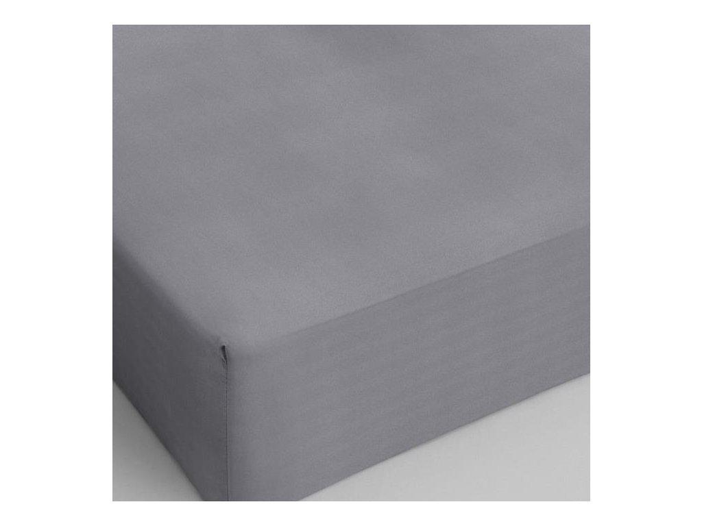 Bavlnené prestieradlo šedá 160x200