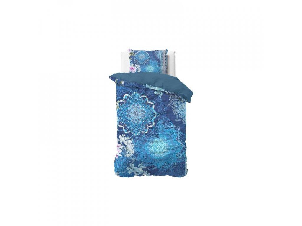 Obliečky LUNA BLUE 140x220, 60x70 cm