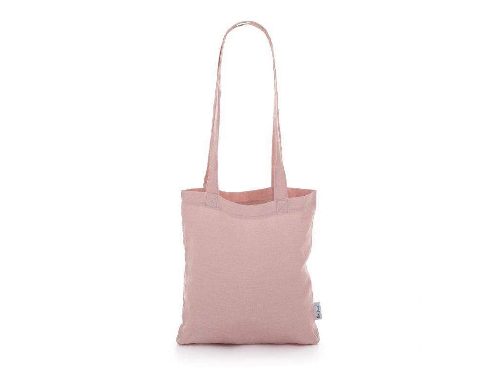 Ľanová taška Púdrovo ružová Tom Linen
