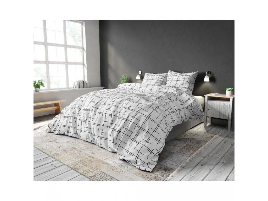 Obliečky LEXI WHITE 140x220, 60x70 cm