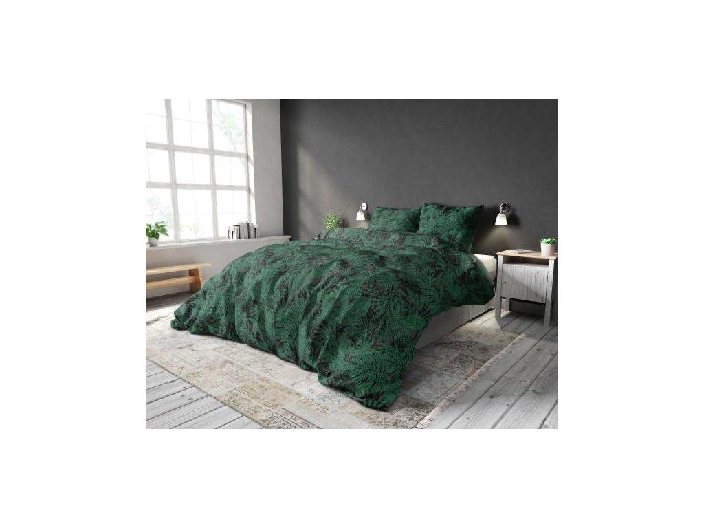Obliečky LYNN GREEN 140x220, 60x70 cm