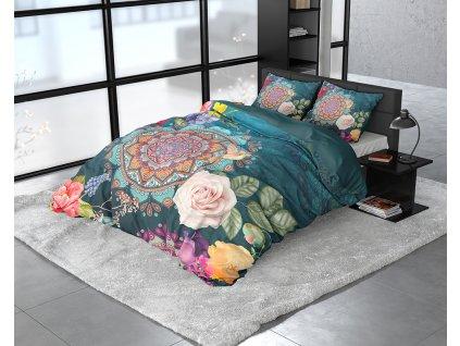 Obliečky z bavlneného saténu Dalila Multi 140x200/220, 60x70