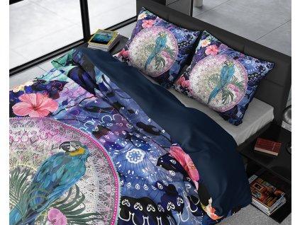 Obliečky z bavlneného saténu Diara Multi 200x220, 60x70