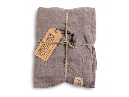 Lovely Linen stolný bežec Misty grey 45x150