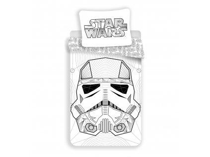 "Obliečky bavlna Star Wars ""White"" , 140x200, 70x90 cm"