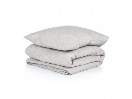 Ľanové obliečky Melange Natural 140x200,50x70