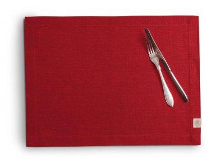 Lovely Linen prestieranie 37X50 RED SINGLE