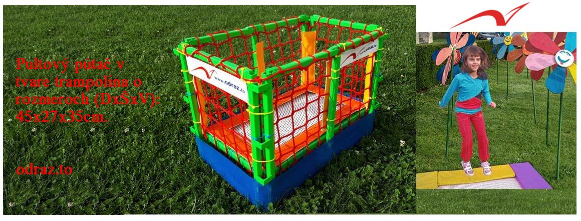 Pultový pútač v tvare trampolína na podporu predaja produktov odraz.to o rozmere ...