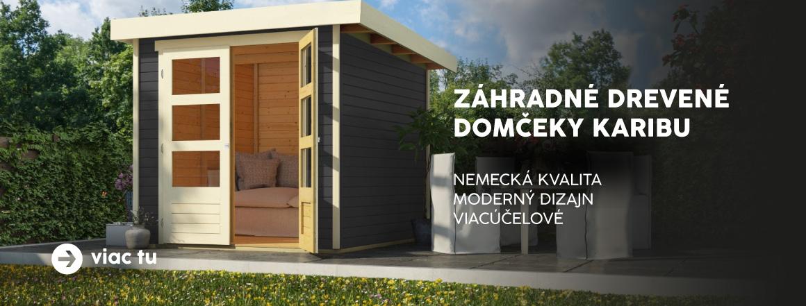 Nemecké drevené domčeky Karibu