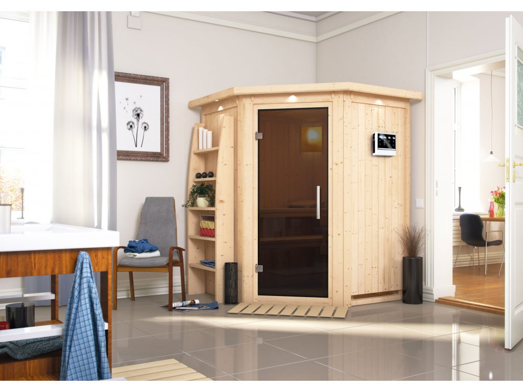 Fínska sauna KARIBU LARIN (75604)