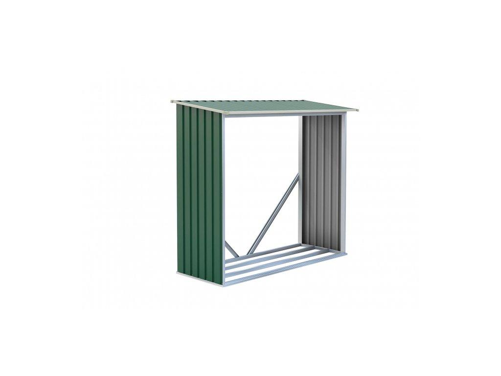 Prístrešok na drevo G21 WOH136 - 182 x 75 cm, zelený