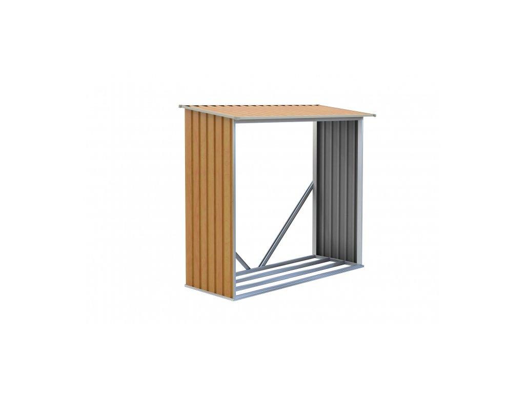 Prístrešok na drevo G21 WOH136 - 182 x 75 cm, hnedý