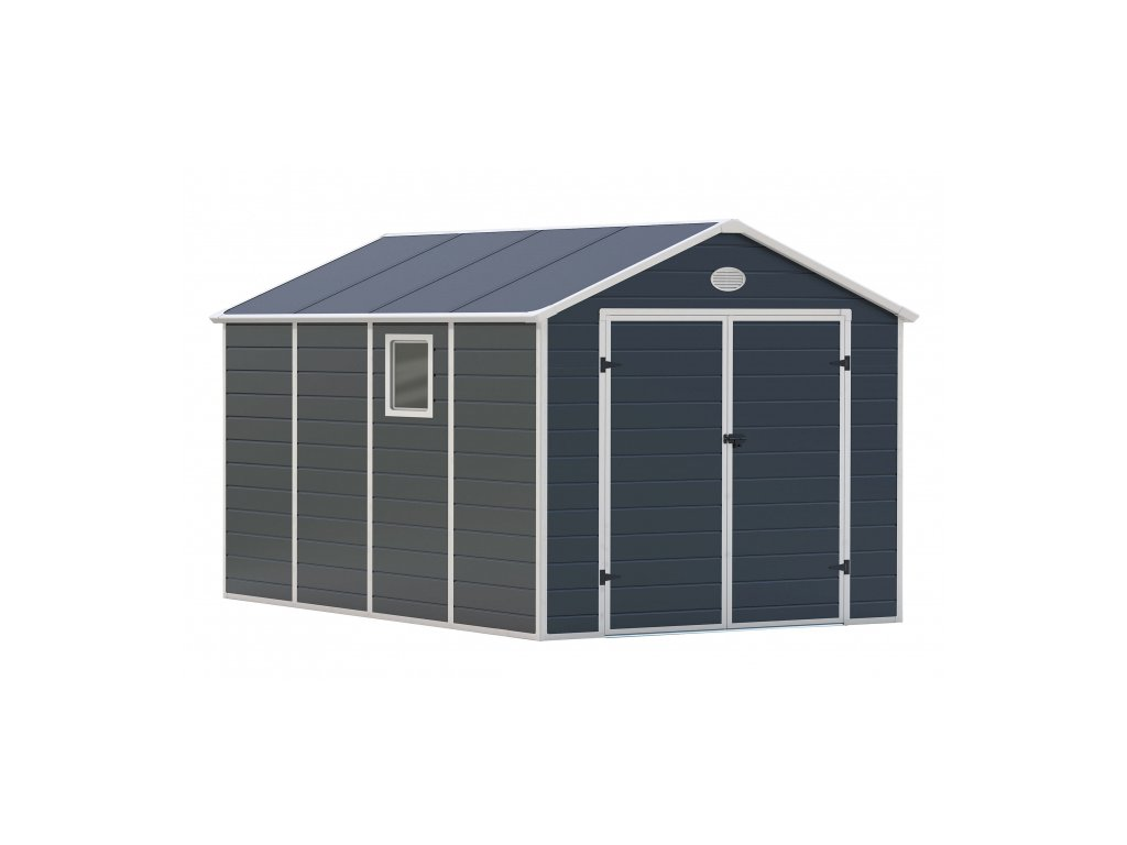 Záhradný domček G21 PAH 882 - 241 x 366 cm, sivý