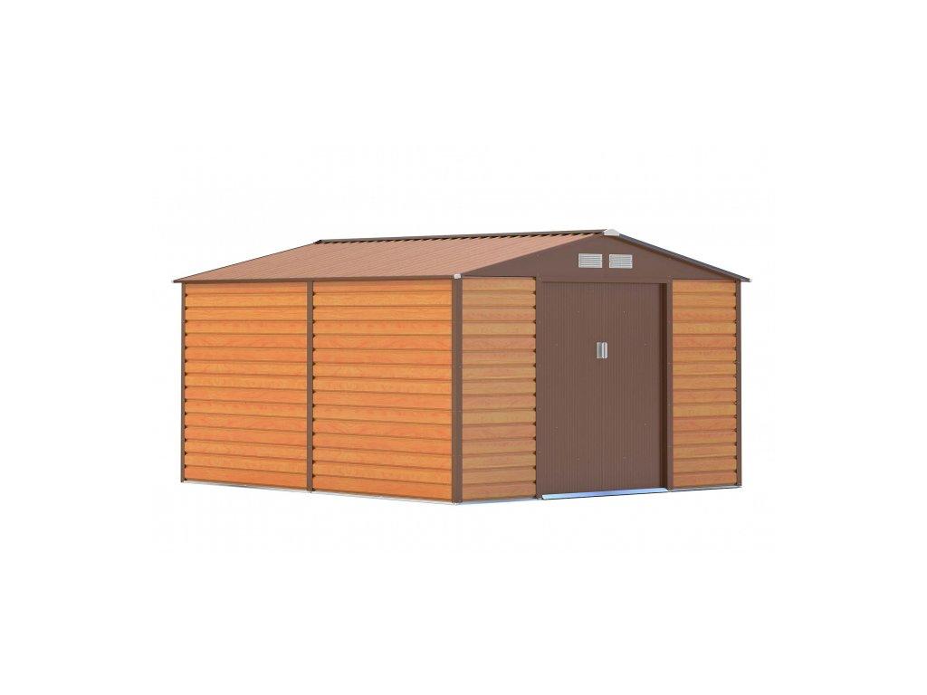Záhradný domček G21 GAH 884 - 277 x 319 cm, hnedý