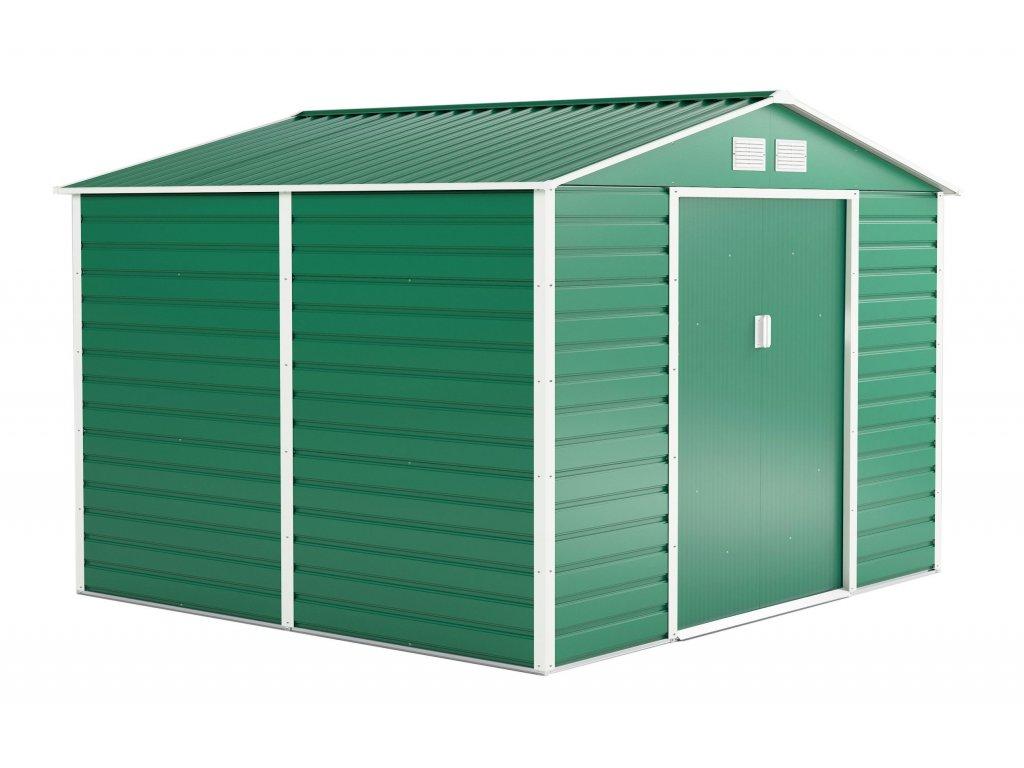 Záhradný domček G21 GAH 706 - 277 x 255 cm, zelený