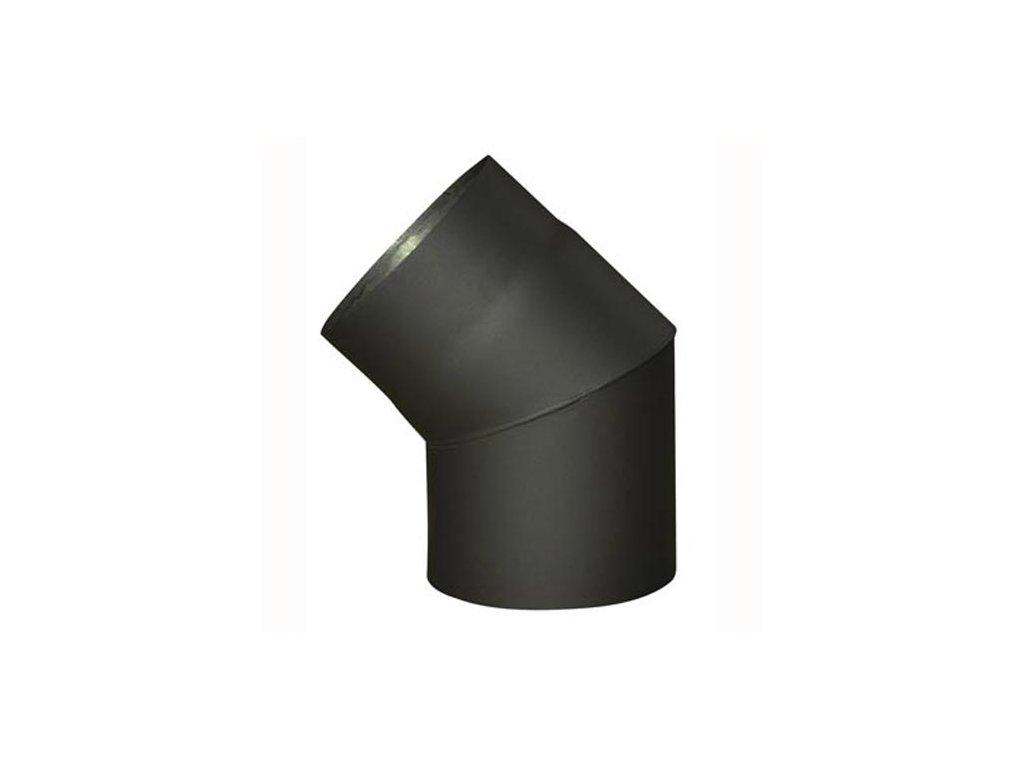 Dymové koleno 120 mm/45°, t.1,5 mm, čierne