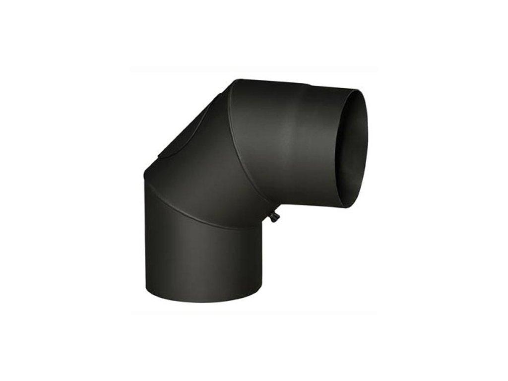 Dymové koleno s otv.130 mm/90°, t.1,5 mm, čierne