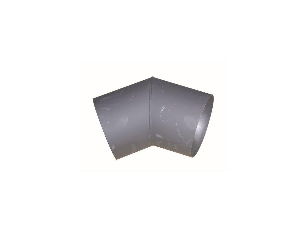 Dymové koleno 125 mm/45°, t.1,5 mm, čierne