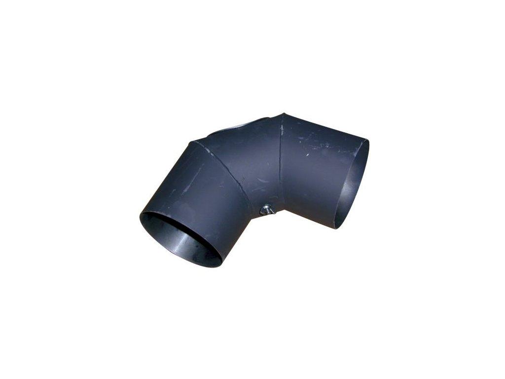 Dymové koleno s otv.125 mm/90°, t.1,5 mm, čierne