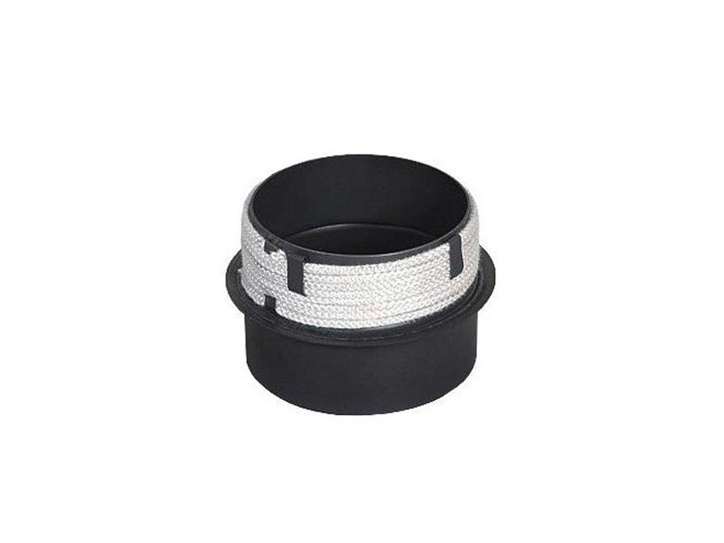 Prechodka 150/150 mm (d.160 mm), t.1,5 mm s povrazcom, čierna