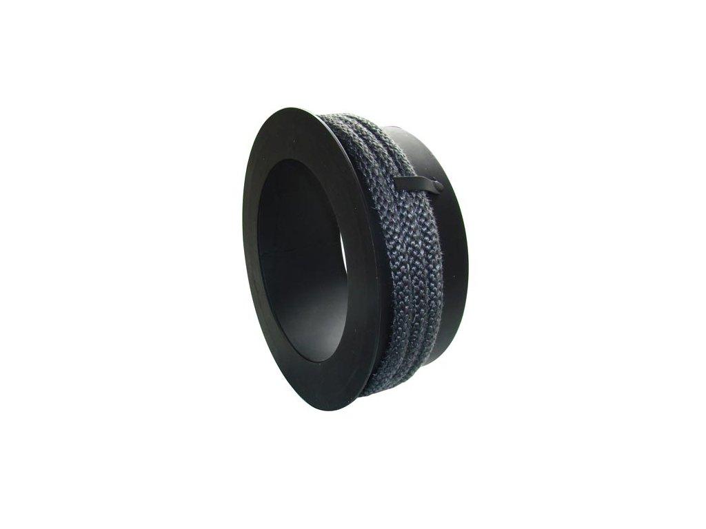Komínová redukcia 130/200 mm, t.1,5 mm s povrazcom, čierna