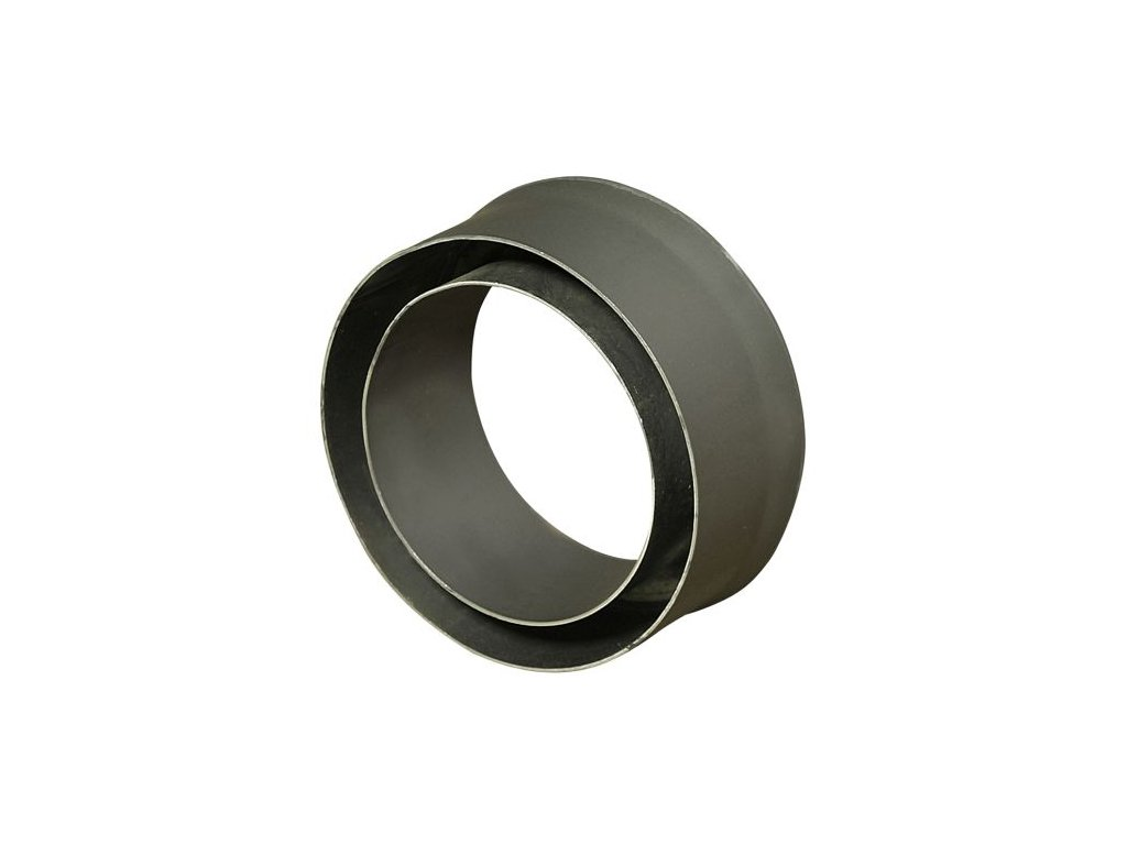 Komínová redukcia 150/125 mm (d.80 mm) t.1,5 mm, čierna