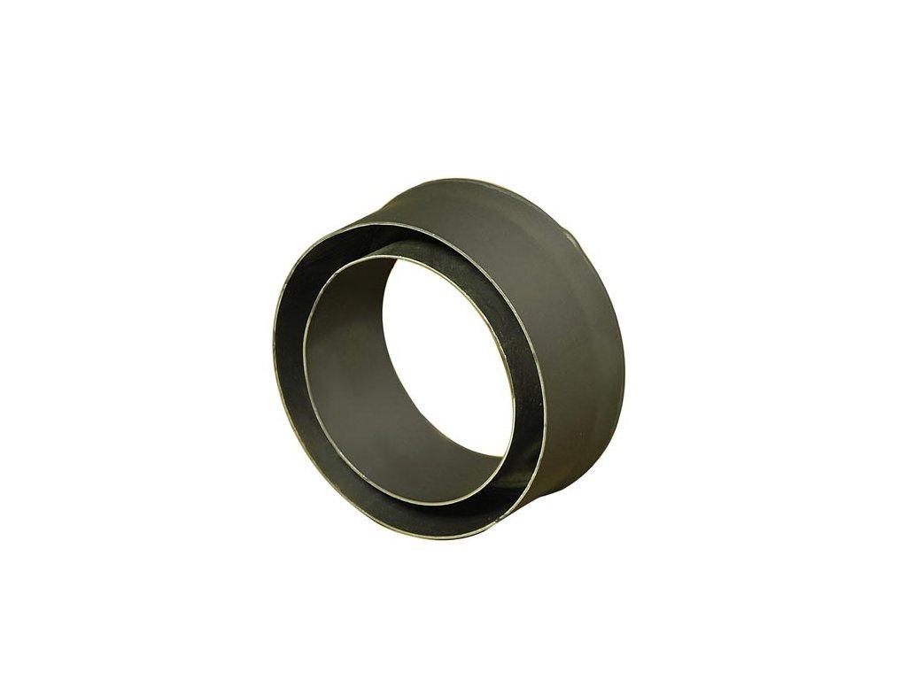 Komínová redukcia 160/200 mm (d.80 mm) t.1,5 mm, čierna