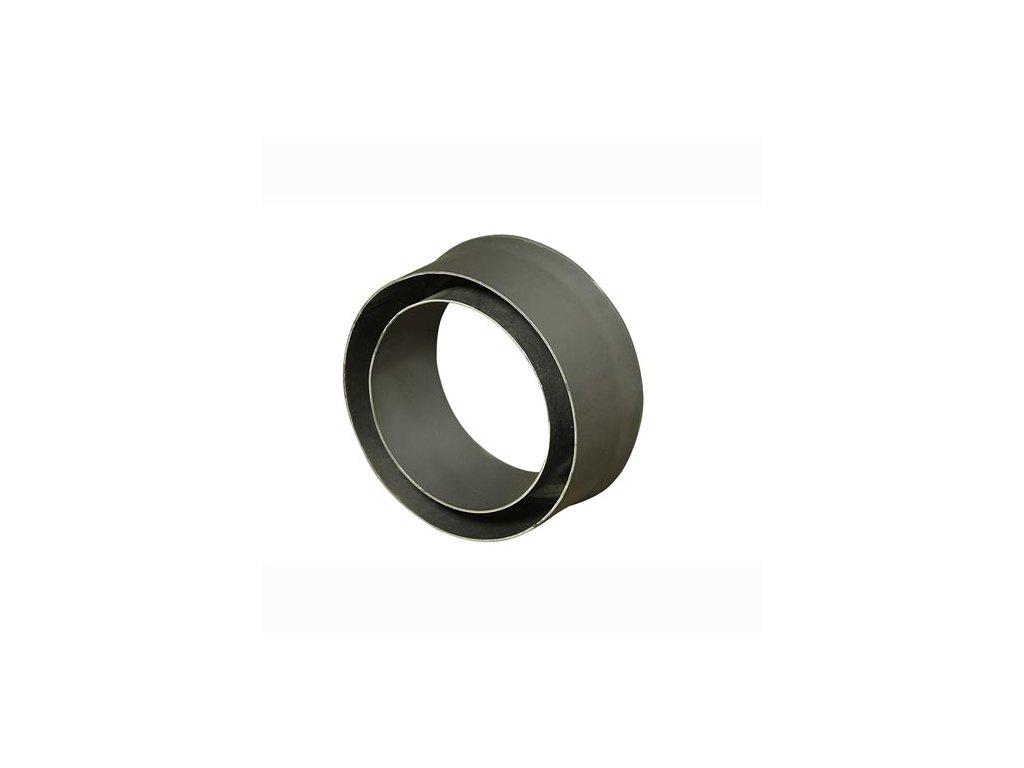 Komínová redukcia 150/200 mm (d.80 mm) t.1,5 mm, čierna