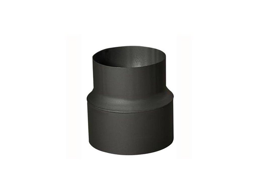 Rúrková redukcia 150/130 mm (d.160 mm), t.1,5 mm, čierna