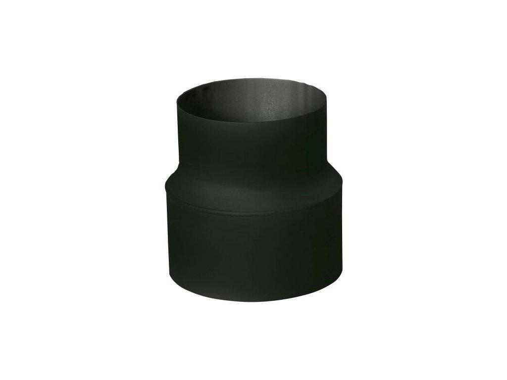 Rúrková redukcia 180/130 mm (d.160 mm), t.1,5 mm, čierna
