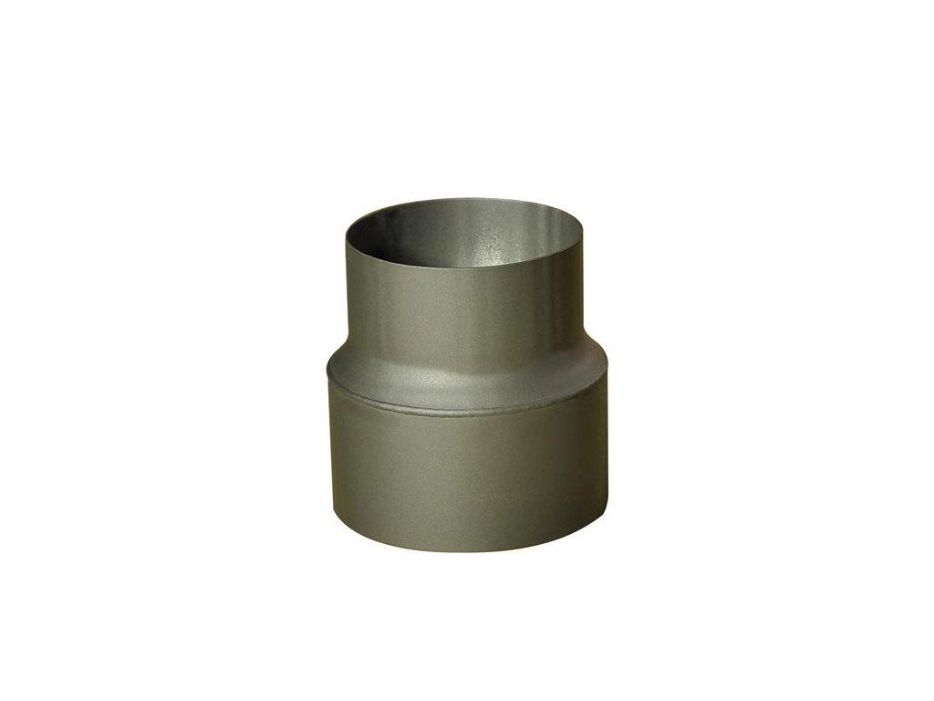 Rúrková redukcia 150/120 mm (d.160 mm), t.1,5 mm, čierna