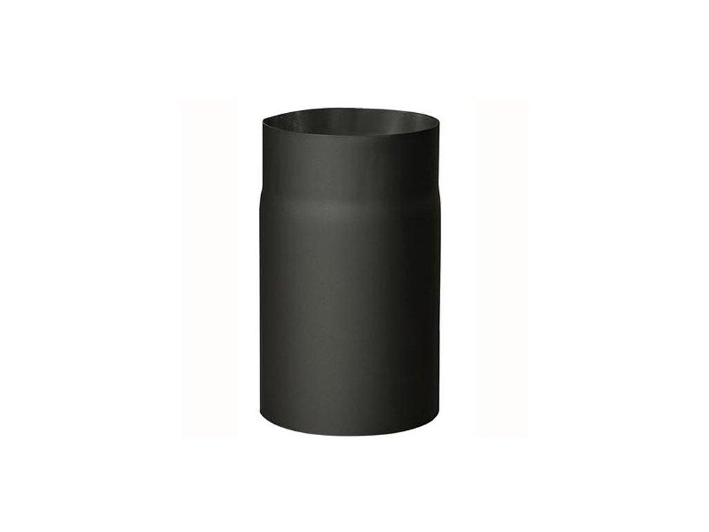 Dymová rúra 130 mm/250, t.1,5 mm, čierna
