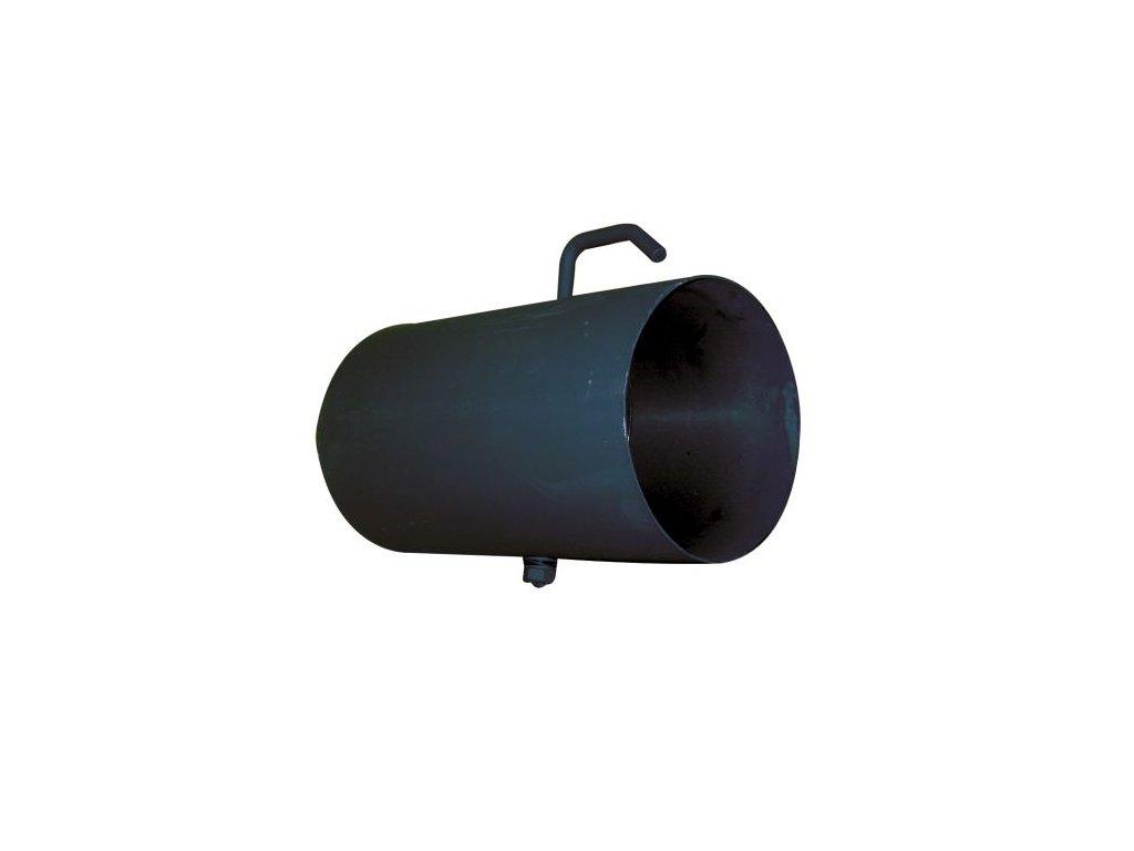 Dymová rúra s klapkou 125 mm/250, t.1,5 mm, čierna