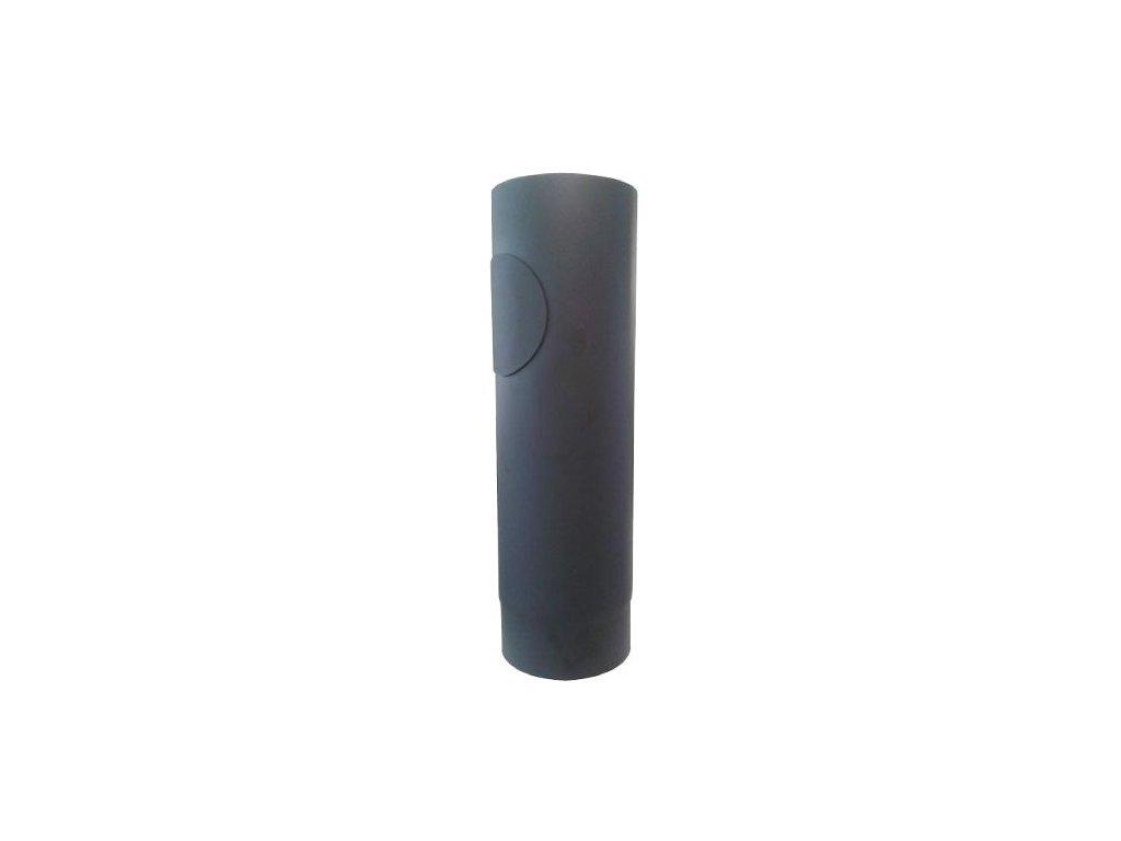 Dymová rúra s otv.130 mm/500, t.1,5 mm, čierna