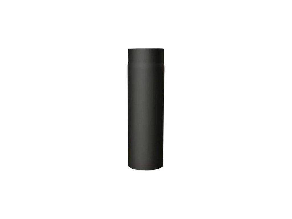 Dymová rúra s klapkou 120 mm/1000, t.1,5 mm, čierna