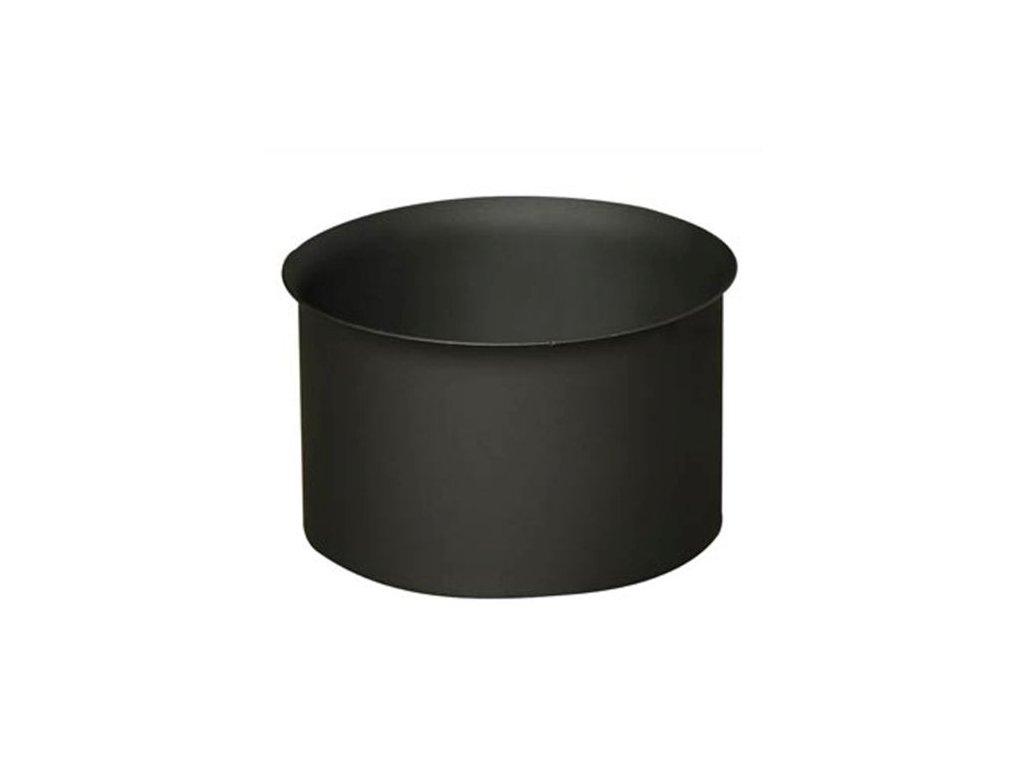 Dymová zder 125 mm , t.1,5 mm, čierna