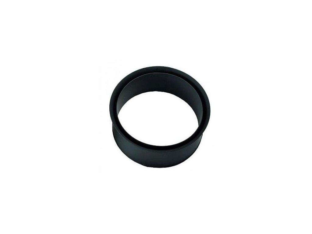 Dymová zder dvojitá 200 mm , t.1,5 mm, čierna