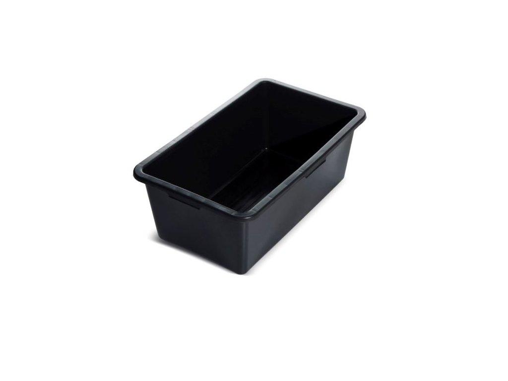 Maltovník CONTAINER hranatý čierny 40l