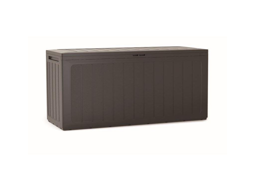 Záhradný box BOARDEBOX 280 l - tmavohnedá 116 cm
