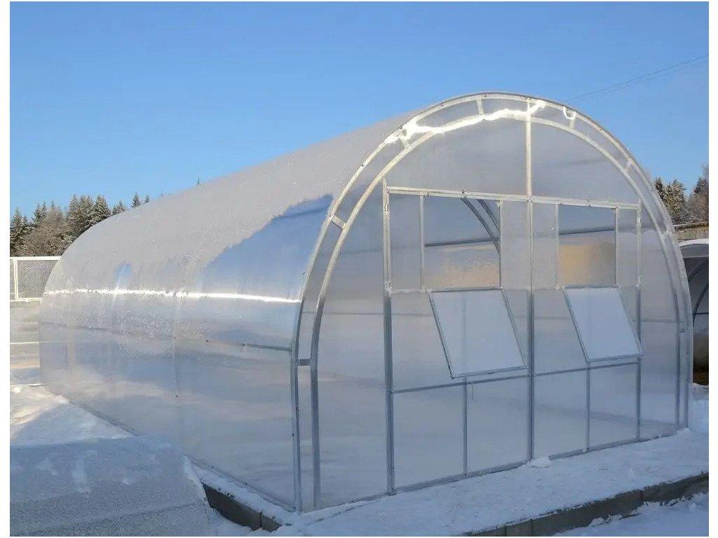 Polykarbonátový skleník IGEL MELON 8 x 3 m, 4 mm  + Lopatka, kolík na sadenie, záhradné nožnice, plečka