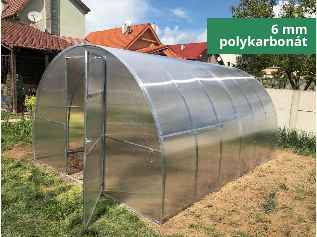 Polykarbonátový skleník IGEL ESTRAGON 4 x 3 m, 6 mm  + Lopata CAPO, kolík na sadenie, lopatka, záhradné nožnice, univerzálne hnojivo 1l