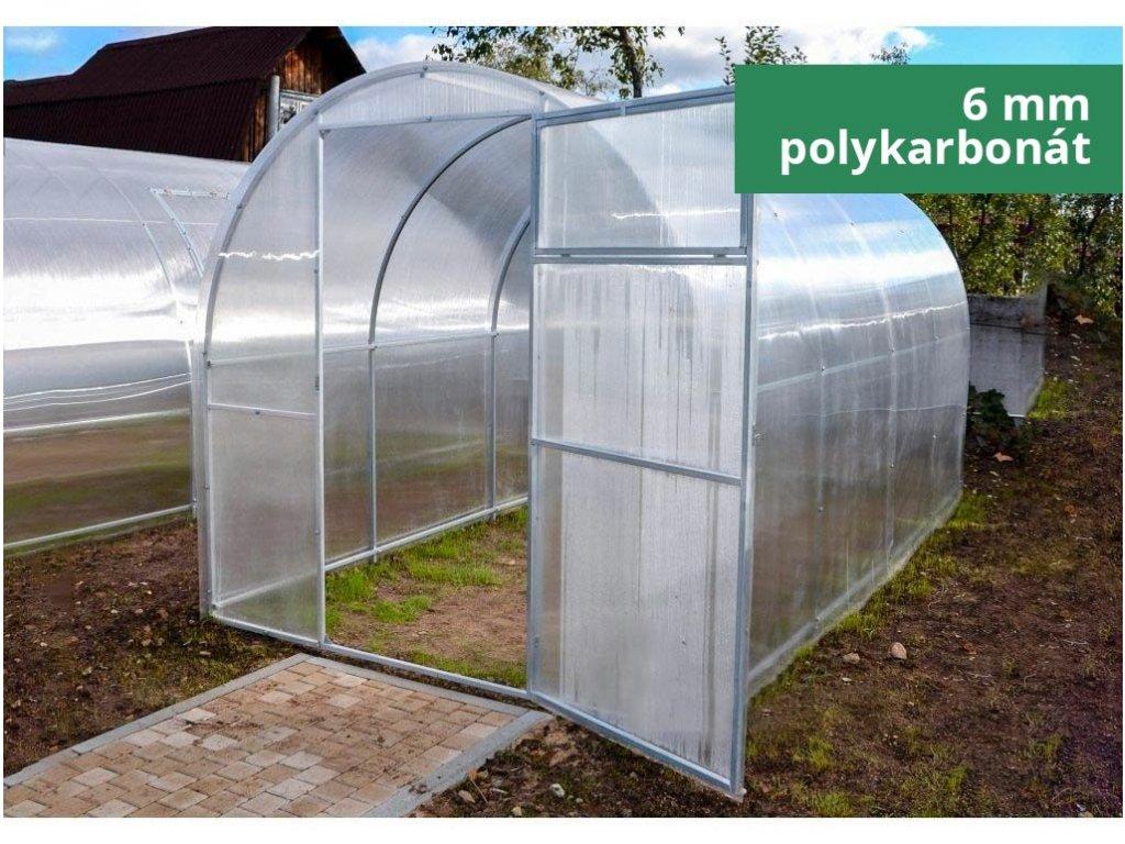 Polykarbonátový skleník IGEL GARLIC 4 x 1,64 m, 6 mm  + Lopatka, kolík na sadenie, záhradné nožnice, plečka